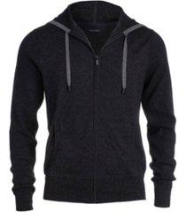 men's zip hoodie with waffle stitch