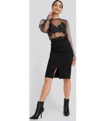 na-kd high waist pencil skirt - black