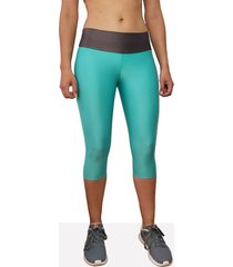 leggings corto deportivo mujer tykhe dian verde aguamarina