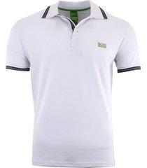 hugo boss men's short sleeve modern fit 100% cotton polo shirt white s m l xl xx