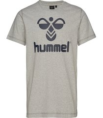 classic bee cotton tee t-shirts short-sleeved grå hummel