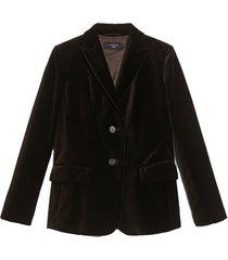 alghero cotton velvet blazer