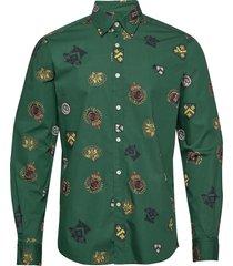ivan button under shirt overhemd casual groen morris