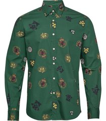 ivan button under shirt overhemd casual groen morris