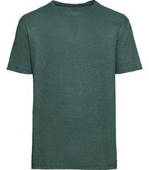 linnen-jersey t-shirt met ronde hals, taxus l