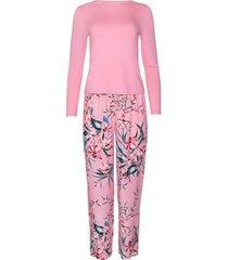pyjama's / nachthemden lisca pyjama indoor outfit broek top lange mouwen harper