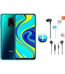 celular xiaomi redmi note 9s 128gb 6ram azul aurora + audifonos