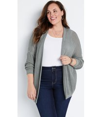 maurices plus size womens solid oversized lounge cardigan green