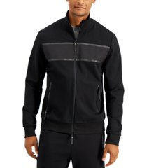 dkny men's premium stealth track jacket, created for macy's