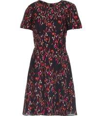 jurk met bloemenprint aria  zwart