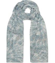 calvin klein tie-dyed logo chiffon scarf