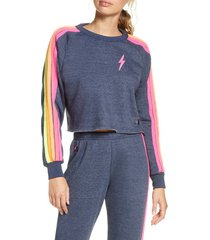 women's aviator nation bolt crop sweatshirt