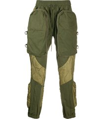 readymade padded cargo trousers - green