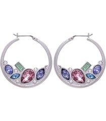 t tahari candied floral hoop earring