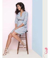 zwangerschapsjurk floral shirt dress