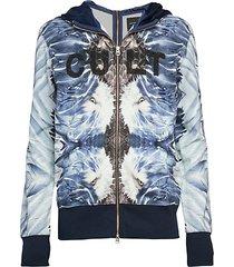 logo zip-front hoodie