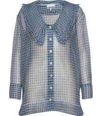organza blouse lange mouwen ganni
