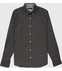 camisa negro nautica