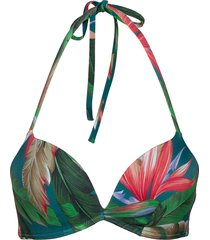 push up bikinitop multi/mönstrad tommy hilfiger