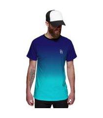 camiseta di nuevo azul céu degradê azul oceano masculina