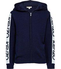 logo jg 2 hoodie trui blauw kenzo