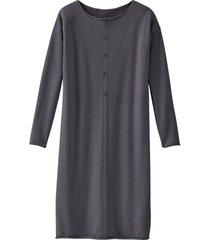 gebreide jurk van bio-merino en bio-katoen, antraciet 46