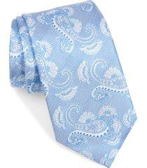 men's david donahue paisley silk tie, size one size - blue