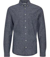 slimfit overhemd blend/grijs