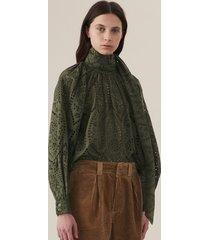 ganni blouse f3941 groen