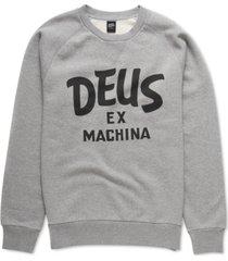 deus ex machine men's curvy regular-fit brushed fleece logo sweatshirt
