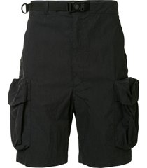 snow peak belted cargo shorts - black