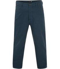 calça de sarja plus size stylus masculina