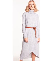swetrowa sukienka z golfem estelle szara