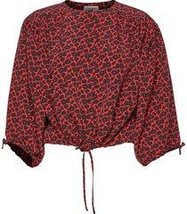 breeze mini blus långärmad röd rodebjer