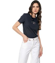 camiseta azul oscuro tommy jeans