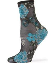 women's botanic bunches sheer see-through anklet socks