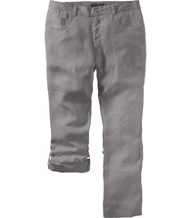 pantalone regolabile in lino regular fit straight (grigio) - bpc selection
