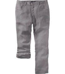 pantaloni in lino regolabili regular fit (grigio) - bpc selection