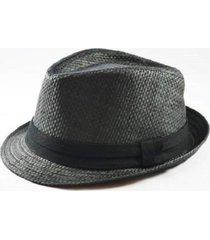 chapéu chapelaria vintage estilo panamá preto - kanui