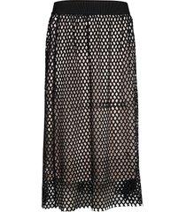 everline esme skirt knälång kjol svart bruuns bazaar
