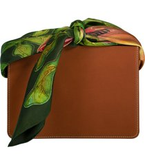 leather guaria scarf handle bag