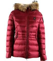 usa pamela down jacket with hood with removable fur trim