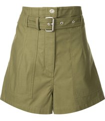3.1 phillip lim belted cargo shorts - green