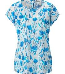 shirt 100% katoen ronde hals van peter hahn pure edition blauw