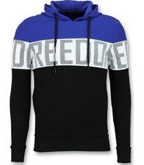 sweater enos striped hooded sweat-shirt - hoodies kopen online -