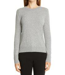 women's altuzarra button back cashmere sweater, size medium - grey