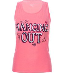 camiseta descanso hanging out color rosado, talla l