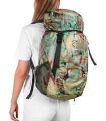morral viajero plegable estampado tropical citybags multicolor