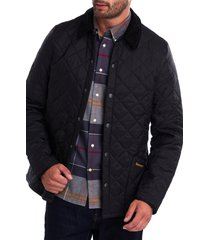 men's barbour liddesdale tailored fit quilted nylon jacket, size small - black