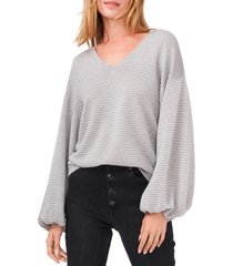 women's 1.state drop shoulder balloon sleeve sweater, size x-large - grey